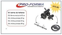 kit barras de halteres de ferro