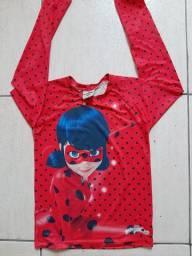 Blusa com Proteção UV Tam 8 anos