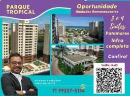 Título do anúncio: 3 suítes , Patamares , Parque Tropical , Varanda Gourmet , 2 vagas , 113m²