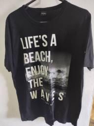 Camisa Life is a Beach Enjoy the Waves
