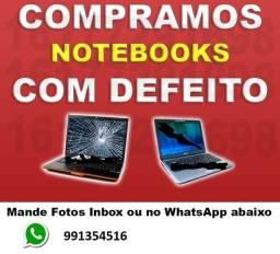 Compr notebook com defeitos, quebrado