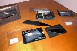 Canivete dissimulado cartão faca defesa pessoal