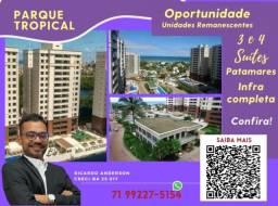 Título do anúncio: Patamares , 2 vagas , 113m² , Varanda Gourmet , 3 suítes , Parque Tropical