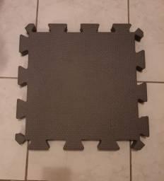 6 placas Tatame EVA 50x50x4cm Cinza escuro