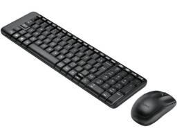 Título do anúncio: Kit Teclado e Mouse Sem Fio Compacto Logitech Wireless Novo Lacrado
