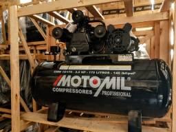 Compressor de Ar 15 Pés 175 Litros 140 Libras Monofásico