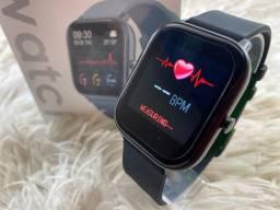 SmartWatch P8 - frequência cardíaca, exercícios físicos e notificações WhatsApp
