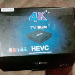 Vendo aparelho tv box novo, 4k