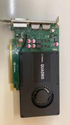 Placa de video K2000 em otimo estado de conservação e funcionamento
