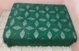 Colcha em Crochê Verde