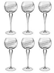 Taça Cristal Vinho Branco Conjunto 6 Peças