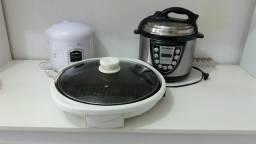 Panela elétrica. Uma de pressão de arroz e um grill