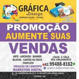 Gráfica, Cartão de Visita, Panfleto, wind banner, Bandeiras, Fachada, Logomarca, Banner