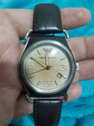 Relógio Armani top de linha completo máquina Eta