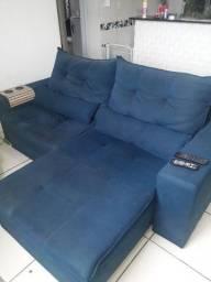 Sofá retrátil azul