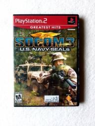 Jogo SOCOM 3 U.S. NAVY SEALs Original Playstation 2 (Colecionador) em estado de Novo