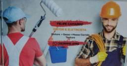Eletricista / Pintor / Tela de proteção/ Limpeza de telhados e quintal