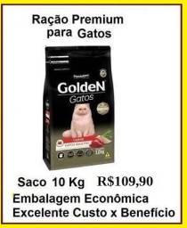 Ração Golden Gatos 10kg (saco) Ração Premium Alimento Completo para o seu Gato!