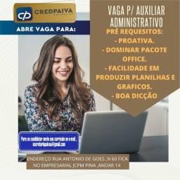 Vaga p/ Auxiliar administrativo