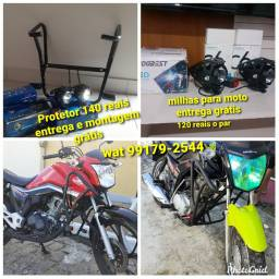 Protetor moto 125 150 160 190 entrega e montagem grátis