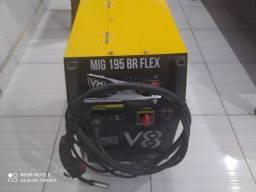 Máquina de Solda Mig 195A Monofásico Mig 195BR Flex - V8 Brasil