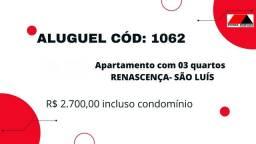 Cód: 1062 Apartamento com 03 quartos , 02 garagens no Renascença