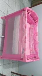 New mini berço Pink burigoto semi novo