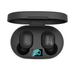 Super Fones de ouvido E6S sem fio Bluetooth 5.0 TWS música vídeos
