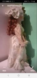 Boneca porcelana 40 a 50 cm