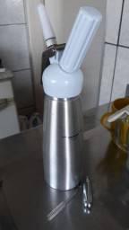 Sifão Garrafa Chantilly (vai com 4 cápsulas de gás)