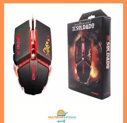 Mouse Óptico Gamer LED Usb base metálica X-Soldado