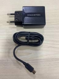 Carregador turbo completo tipo v8 micro USB Hmaston