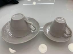 Jogo de 6 Xicaras Café e Chá Porcelana