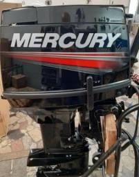 Motor de popa Mercury 50 hp eho Partida eletrica , autolube , manche