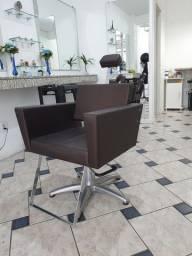 Cadeira cabeleireiro hidráulica
