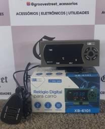 Relógio Digital PARA Carro 2USB Extra