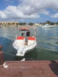 Coral 18 com motor de 100 hp mercury