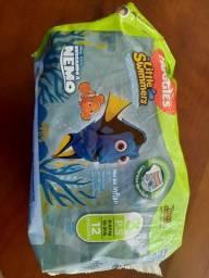 Fraldas Descartáveis - 8 fraldas Huggies Little Swimmers Tamanho 3 P.S 6-9,5 KG