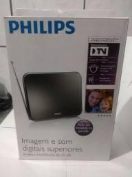 Antena Amplificada Digital de tv Philips 25db interna