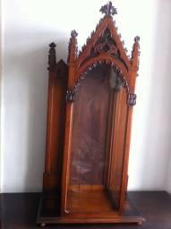 Antigo oratório gótico, final do século 19, perfeito