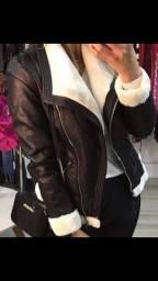 Jaqueta peluciada feminina