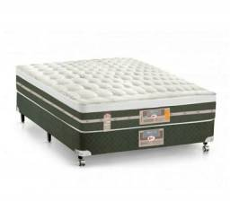 Cama Box + Colchão Castor casal molas Bonnel Silver star Air one novo