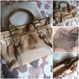 Três bolsas da VIA UNO , couro legítimo
