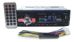 Novo Rádio Automotivo MP3 Bluetooth, FM, USB, Cartão SD Receba hj msmo