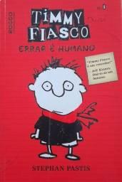 Livro Timmy Fiasco, errar é humano.