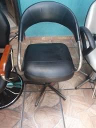 Cadeira para comércio acolchoada