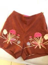 Short courinho manga rosa P