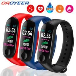 Relógio Pulseira Inteligente Smartband Bluetooth M3 Monitor Cardíaco E Pressão
