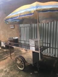 Carinho de fritar pastéis Inox