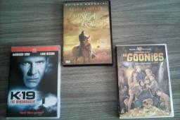 Lote com três DVDs de filmes clássicos, excelente estado!!